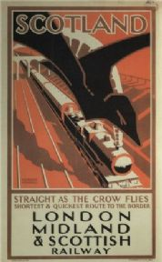 Vintage Rail poster - London, Midland and Scottish railways